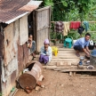Poor Family in Falam, Myanmar (Burma)