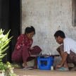 People Playing Chess in Falam, Myanmar (Burma)