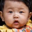 Cute Burmese Baby in Falam, Myanmar (Burma)