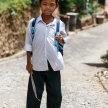 Cute Burmese School Kid in Falam, Myanmar (Burma)