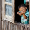 Cute Burmese Boy in Falam, Myanmar (Burma)
