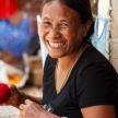 Woman Making Handicrafts in Falam, Myanmar (Burma)