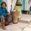 Lady on Street in Falam, Myanmar (Burma)