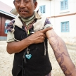 Homemade Tattoo in Falam, Myanmar (Burma)