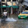 BANGKOK, THAILAND - NOVEMBER 17 : Flooding in Bangkok, Thailand