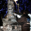 LONDON, UK - JANUARY 13 : Ice Sculpting Festival 2012