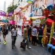 HONG KONG - NOVEMBER 26 2013: The busy LKF (Lan Kwai Fong Festiv