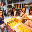 HONG KONG - NOVEMBER 26 2013: The busy LKF (Lan Kwai Fong Festiv