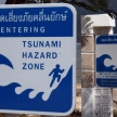 Tsunami Warning Sign - Phuket, Thailand