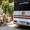 THAILAND - FEBUARY 12 2014: New Thai prisoners / inmates arrive