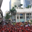 BANGKOK - NOV 19: Red Shirts Protest Demonstration - Thailand