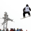 VANCOUVER - MARCH 28: Quiksilver Snowboard Snowboarding Comp