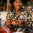 Shrimp / Crayfish Seller on Beach - Sihanoukville, Cambodia
