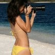 Photographer Girl in Bikini - Tropical Beach - Fraser Island,