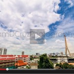 Timelapse – City View Including Rama 8 Bridge (Rama VIII), Bangkok, Thailand